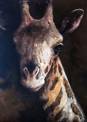 """""""Giraffe"""" by Adelaide Murphy Tyrol - IMAGES COURTESY OF THE GALLERY AT CENTRAL VERMONT MEDICAL CENTER"""