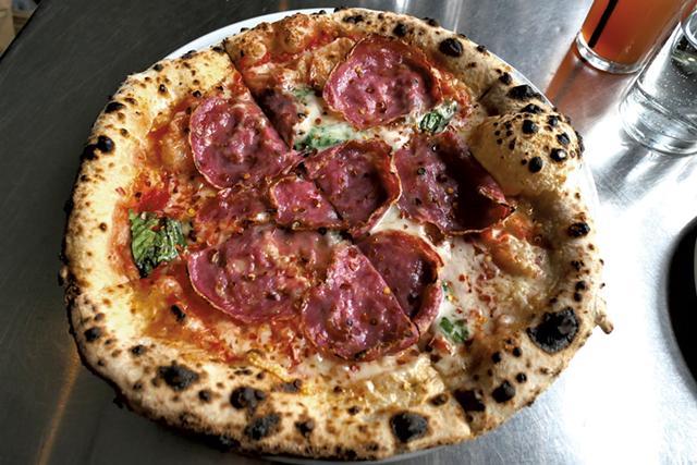Diavolo pie at Pizzeria Verità - CAROLYN FOX