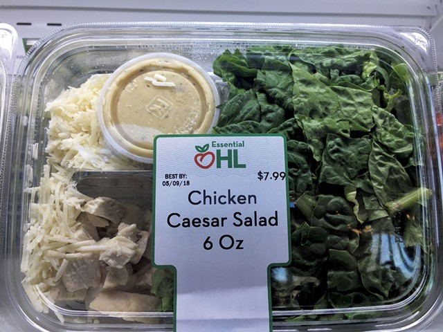Chicken Caesar salad, now available at Healthy Living Café at ECHO - COURTESY OF HEALTHY LIVING MARKET & CAFÉ