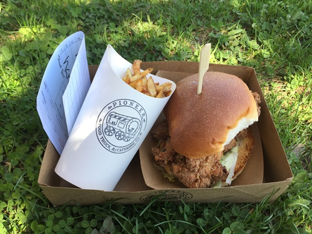 Fries and a chicken sandwich from Pioneer Food Truck & Catering Co. - HANNAH PALMER EGAN