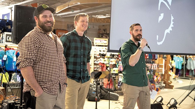 From left Matt Looft, Zach Johnson and Trevor Marcy - JAMES BUCK