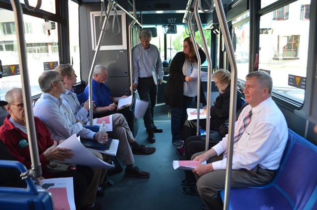 On the bus in the South End - KATIE JICKLING