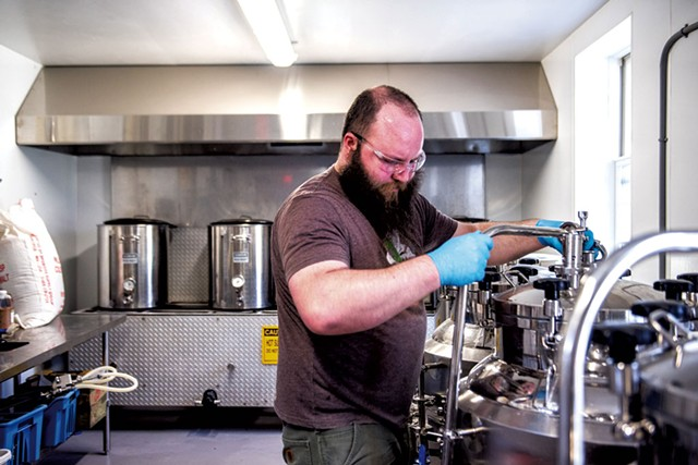 Ethan Freeland in Long Trail Brewing's Farmhouse - COURTESY OF LONG TRAIL BREWING