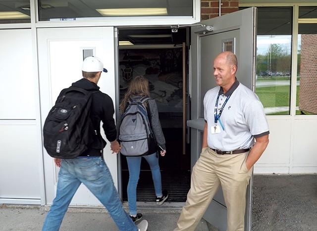Lake Region Union High School principal Andre Messier - TAYLOR DOBBS