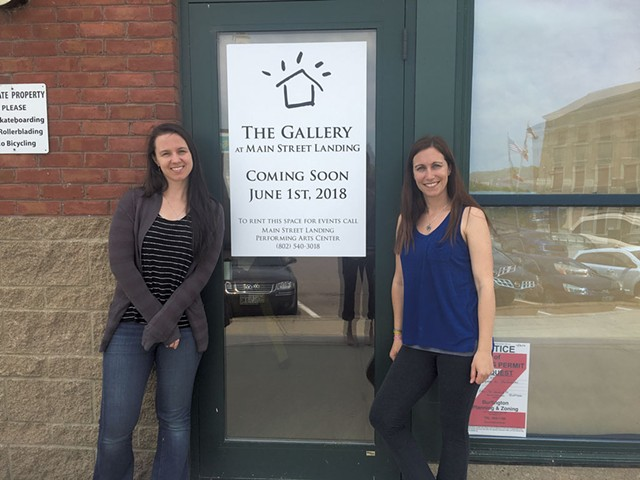 Tatiana E. Zelazo and Sarah Drexler outside the new Gallery at Main Street Landing. - SADIE WILLIAMS