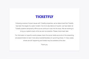 Ticketfly website screenshot
