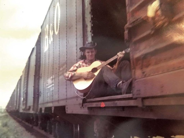 Feather River John riding the rails in the 1960s - COURTESY OF JOHN MCCLAUGHRY