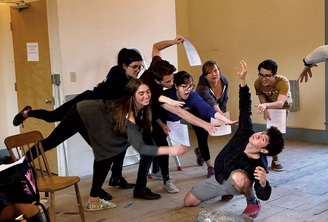 People Fish and Drowning Sailor rehearsing 'Mad as the Wind & Sea' - COURTESY OF MARGOT WHITCOMB