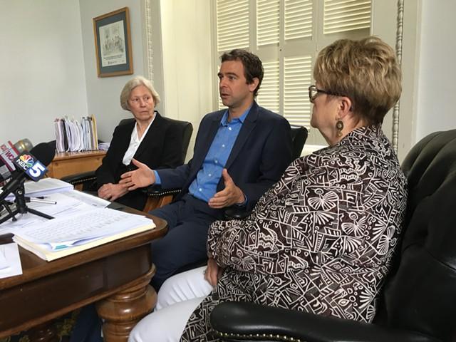 Sen. Jane Kitchel, Senate President Pro Tempore Tim Ashe and Sen. Ann Cummings - JOHN WALTERS