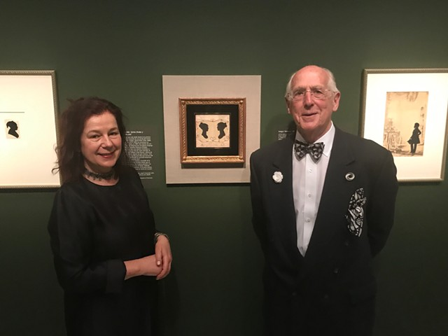 Eva Garcelon-Hart (left) and Bill Brooks at the National Portrait Gallery - COURTESY OF THE HENRY SHELDON MUSEUM OF VERMONT HISTORY