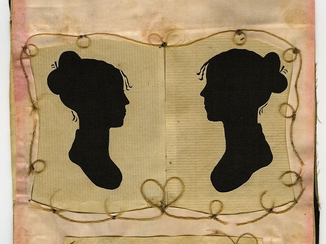 Silhouettes of Sylvia Drake and Charity Bryant, circa 1805–15 - COURTESY OF THE HENRY SHELDON MUSEUM OF VERMONT HISTORY