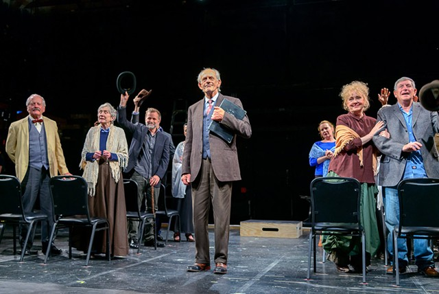 Christopher Lloyd (center) and cast of Our Town - COURTESY OF HUBERT SCHRIEBL