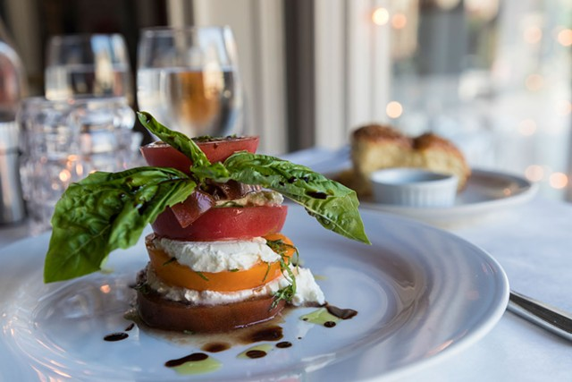 Heirloom tomato salad at Downtown Grocery - TOM MCNEILL