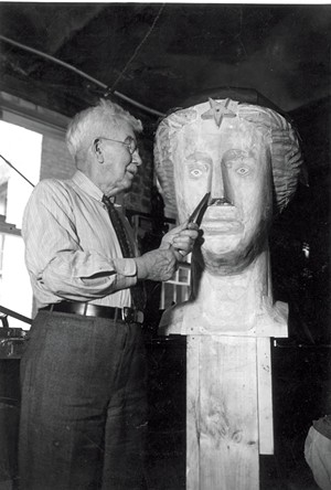 "Dwight Dwinnell carving ""Ceres II"" - COURTESY OF VERMONT HISTORICAL SOCIETY"