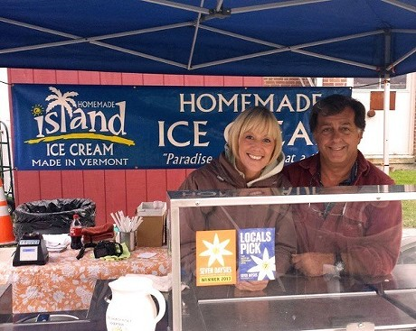 Noni Stuart and Bill Champagne - COURTESY OF ISLAND HOMEMADE ICE CREAM