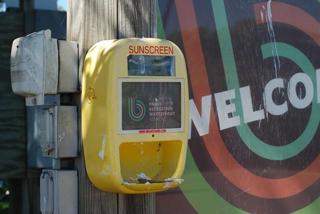 A sunscreen dispenser - SARA TABIN