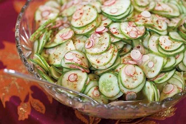 Persian cucumber and radish salad - OLIVER PARINI