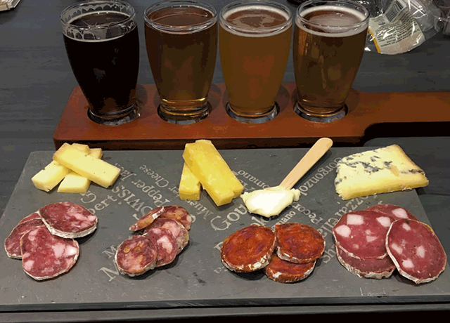 Cheese Charcuterie Beer Tasting - COURTESY OF MAD RIVER TASTE WEEK
