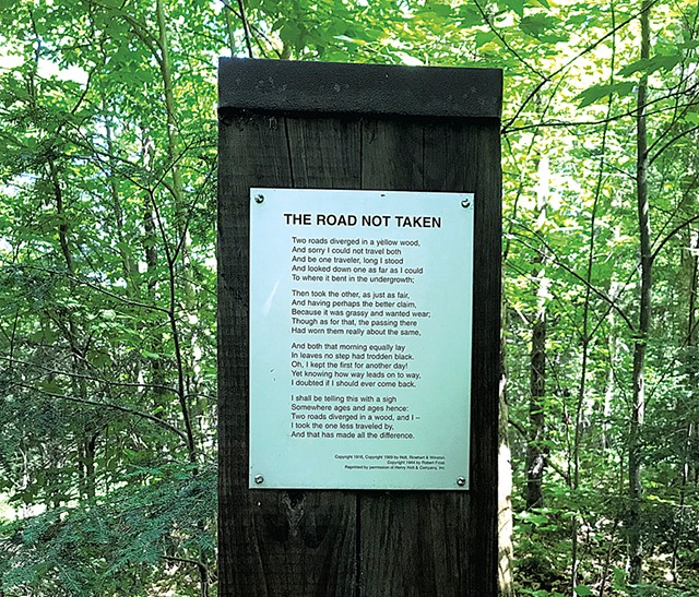 Poem on Robert Frost Interpretive Trail - SALLY POLLAK