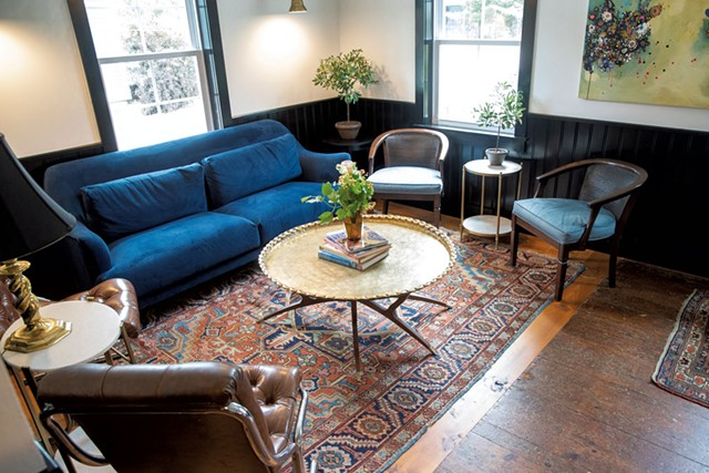 Interior lounge at Peg & Ter's - JAMES BUCK