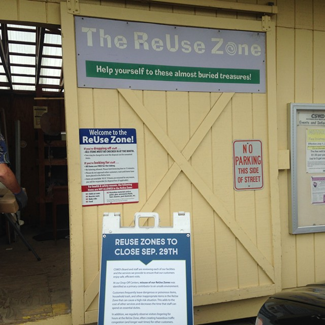 The ReUse Zone at the South Burlington drop off center - MOLLY WALSH