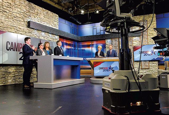 Democratic gubernatorial candidates debate at WCAX-TV - GLENN RUSEEL