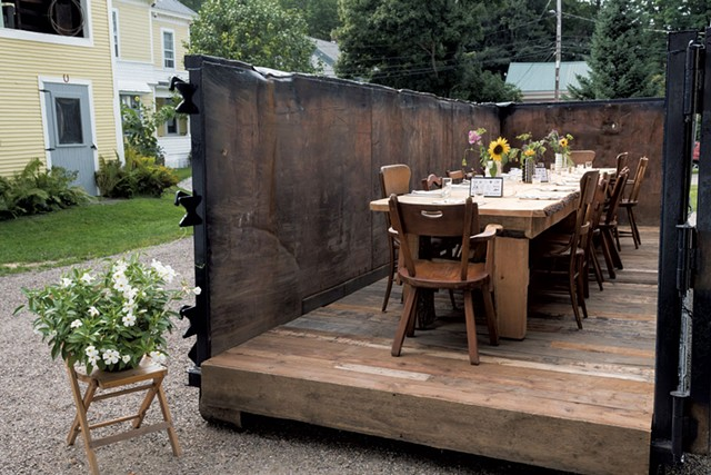 The dumpster setting of Waterbury's Salvage Supperclub - MICHAEL VERILLO