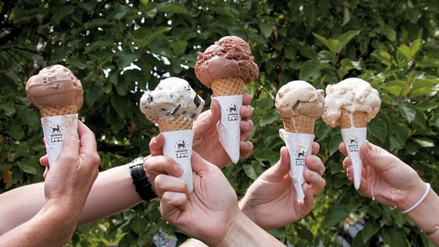 Ice cream cones from Lake Champlain Chocolates - COURTESY OF LAKE CHAMPLAIN CHOCOLATES