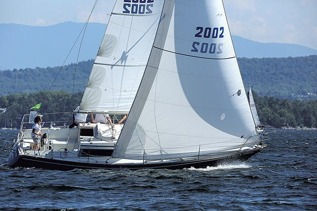 Raven in the 2016 Diamond Island Regatta - COURTESY OF BILL LITTLE