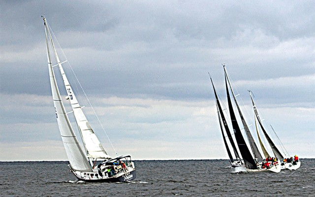 Boats competing in the 2018 Diamond Island Regatta - COURTESY OF RIK CARLSON