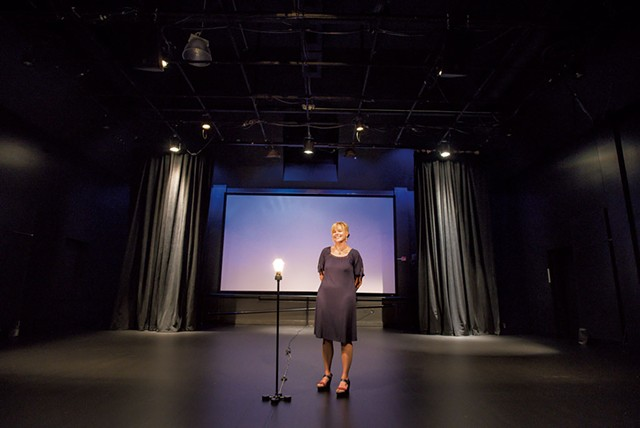 Mariah Riggs in the newly redesigned Black Box Theatre - GLENN RUSSELL