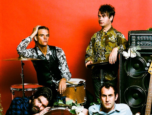 "Clockwise from top left: Mike Wallace, Daniel Christiansen, Matt Flegel and Scott ""Monty"" Munro of Preoccupations - COURTESY OF POONEH GHANA"