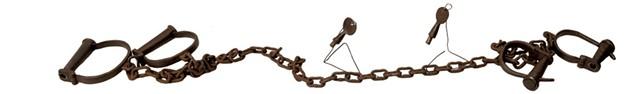 Prisoner shackles and keys - DON WHIPPLE