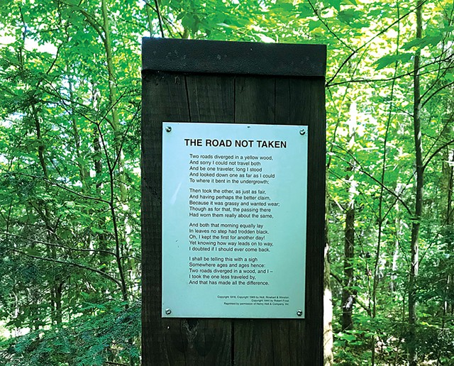 Robert Frost  Interpretive Trail - FILE: SALLY POLLAK