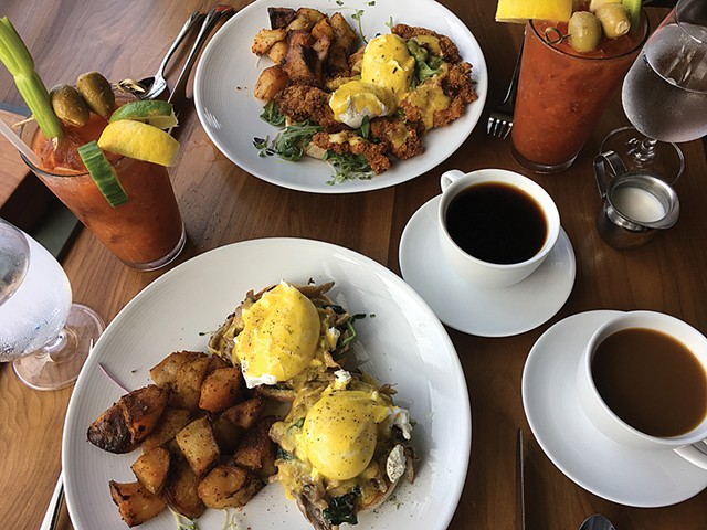 Brunch at Bleu Northeast Seafood - KIRSTEN CHENEY
