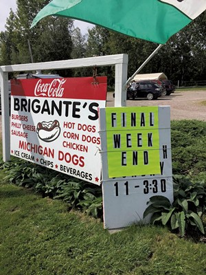 Brigante's Snack Bar on its last day of business - COURTESY OF RIC CENGERI