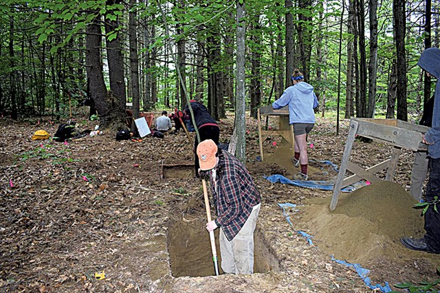 Crew excavating site within the proposed Chittenden Solid Waste District sandpit project - COURTESY OF NORTHEAST ARCHAEOLOGY RESEARCH CENTER