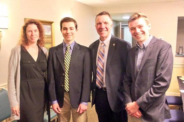 Beth Fialko Casey, Alexandre Silberman, Gov. Phil Scott and Jake Bucci - COURTESY OF BHS REGISTER