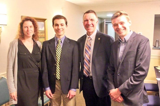 Beth Fialko Casey, Alexandre Silberman, Gov. Phil Scott and Jake Bucci - COURTESY OF BHS REGISTER