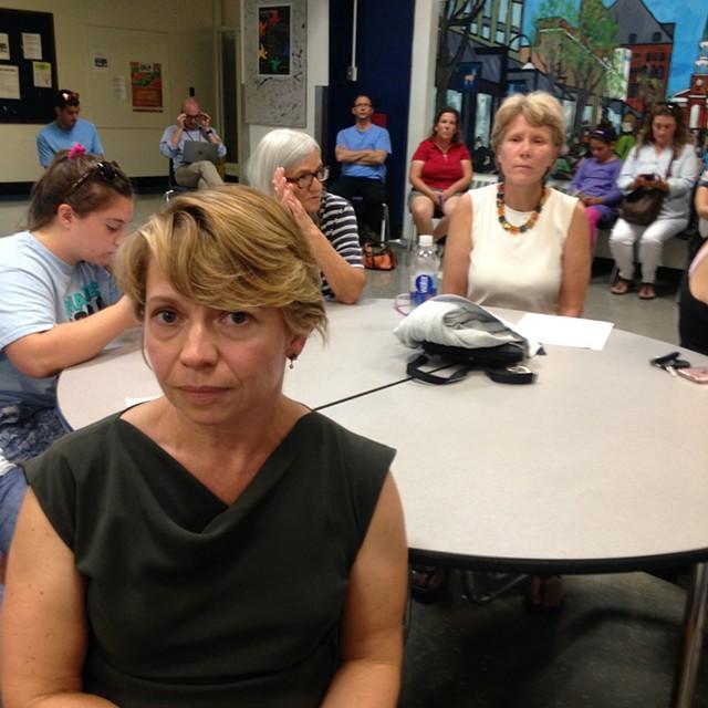 Parent Caroline Crawford at the meeting - MOLLY WALSH