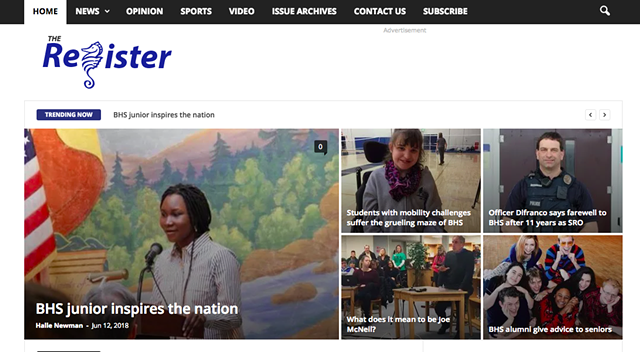 The Register website - SCREENSHOT