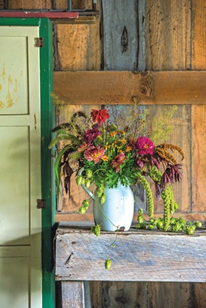 A flower arrangement by Diana Doll of Stray Cat Flower Farm in Burlington - GLENN RUSSELL