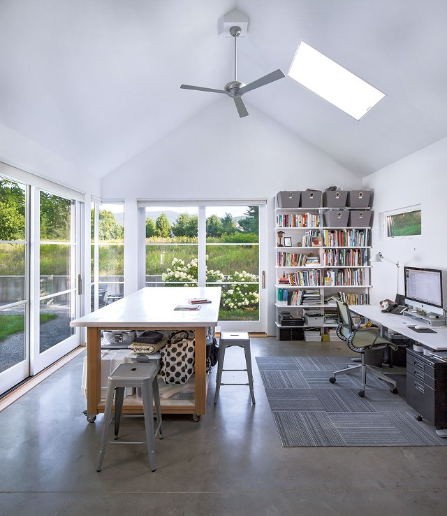 Tina Christensen's studio at home in Jericho - LINDSAY SELIN