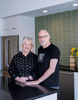 Tina Christensen and Michael Sevy in their kitchen - LINDSAY SELIN