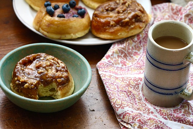 Assorted cinnamon buns by Haymaker Bun - COURTESY OF HAYMAKER BUN
