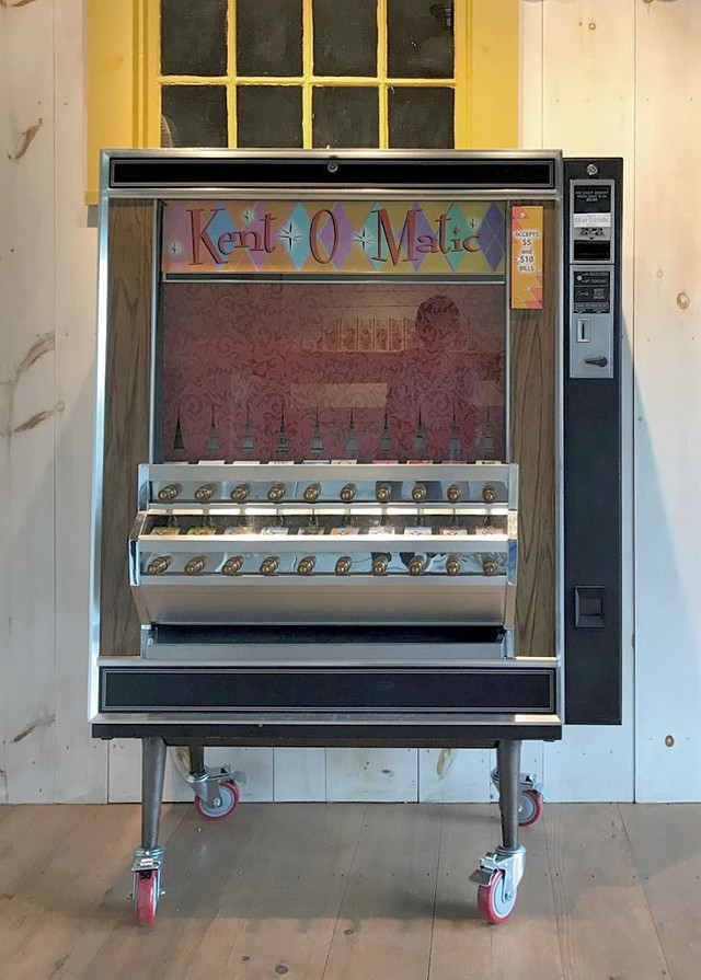The Kent-O-Matic, a refurbished vending machine - COURTESY OF THE KENT MUSEUM