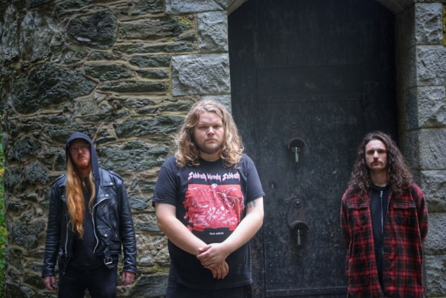 From left: Jonathan Kelley, Graham Brooks and Dylan Blake of Barishi - COURTESY OF FOREST TAYLOR