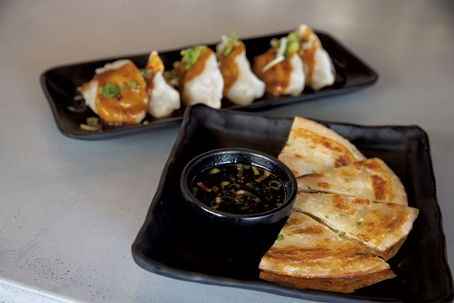 Sichuan spicy dumplings and scallion pancake - JAMES BUCK