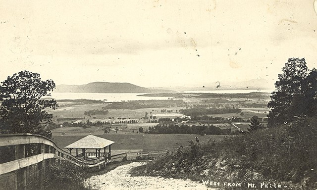 Postcard of Well Spring Shelter on Mount Philo - COURTESY OF RUTH GAREN