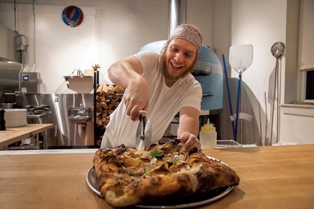 Co-owner Dan Pizzutillo in Pizzeria Ida - JAMES BUCK
